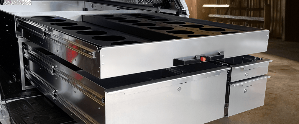 Pickup Bed with the EZ STAK Meter Tray