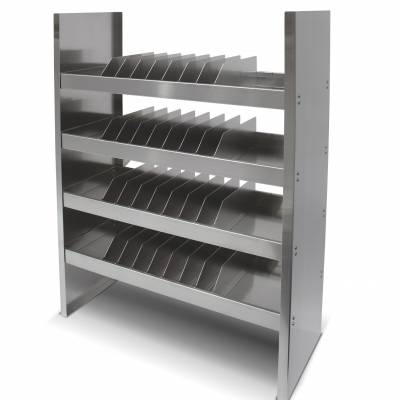 Image displaying modular shelving unit