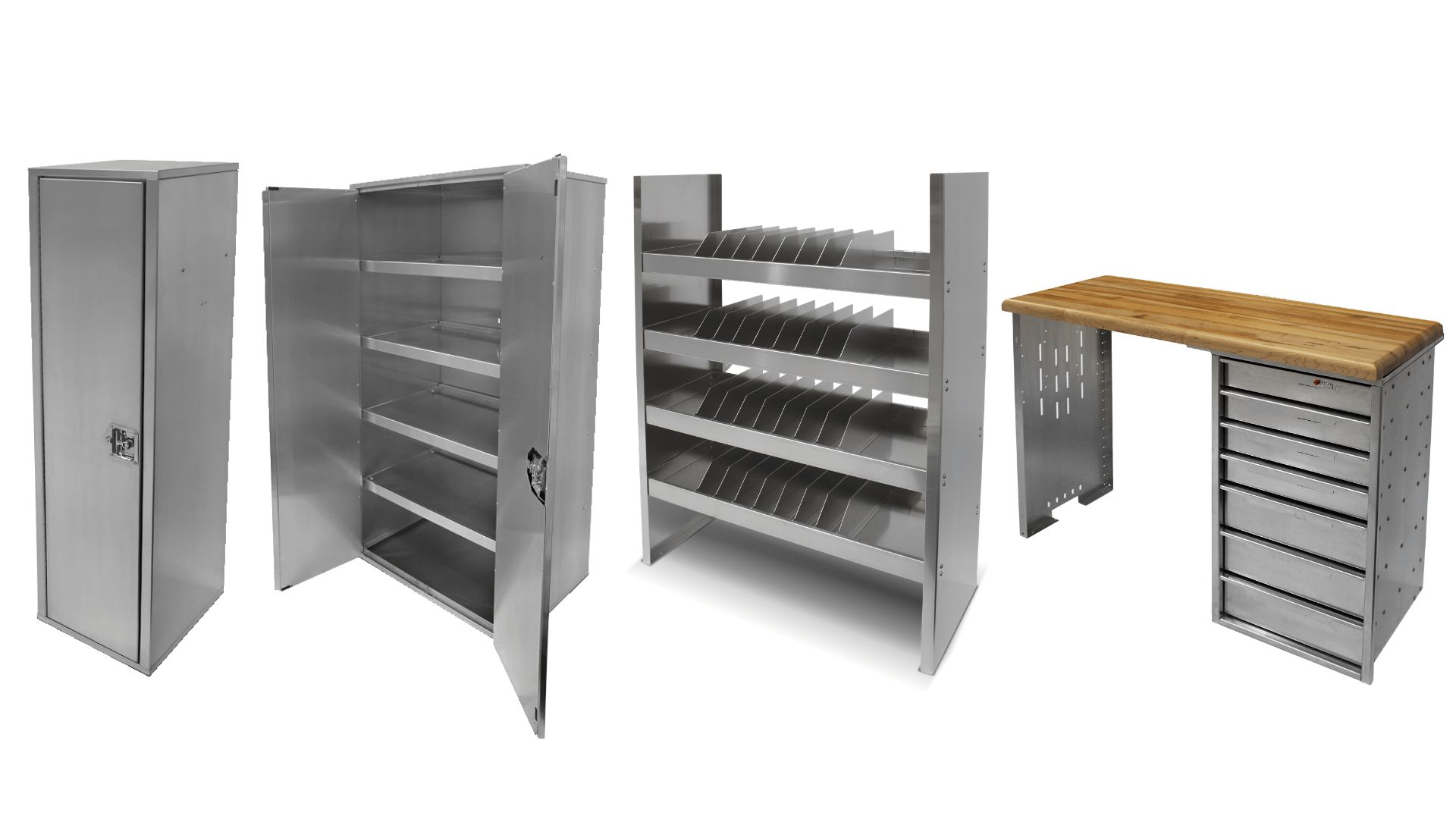 EZ STAK Aluminum Cabinets for Trailers