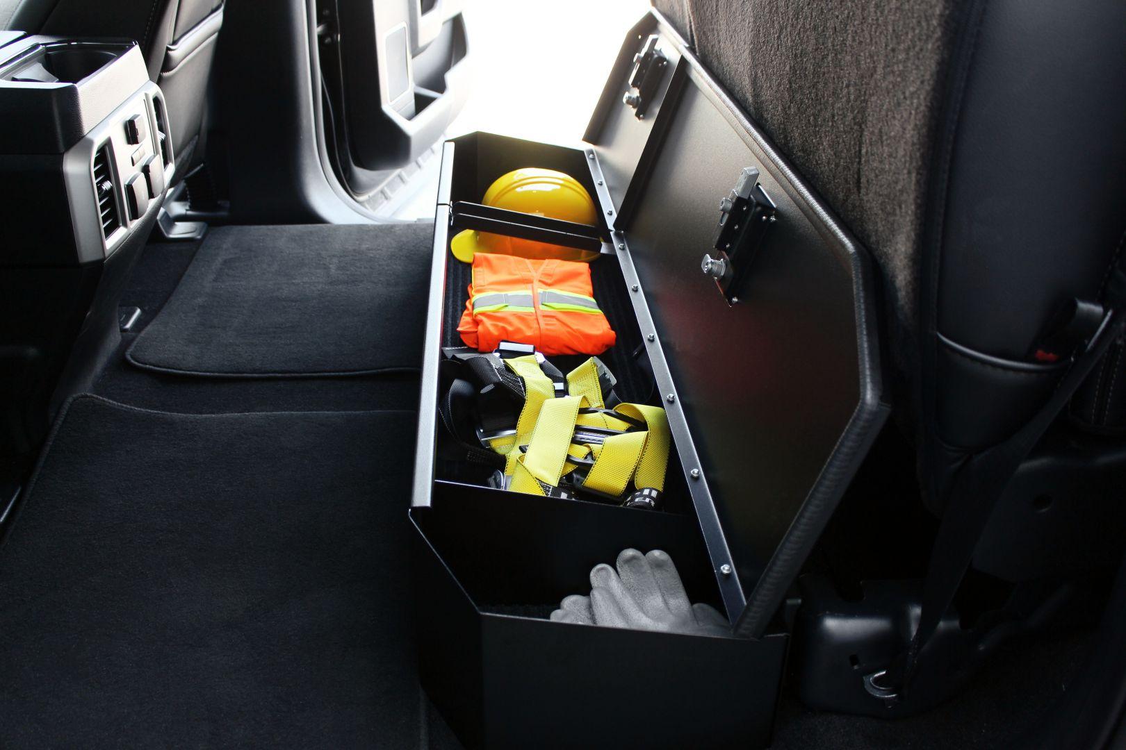 under seat pickup storage