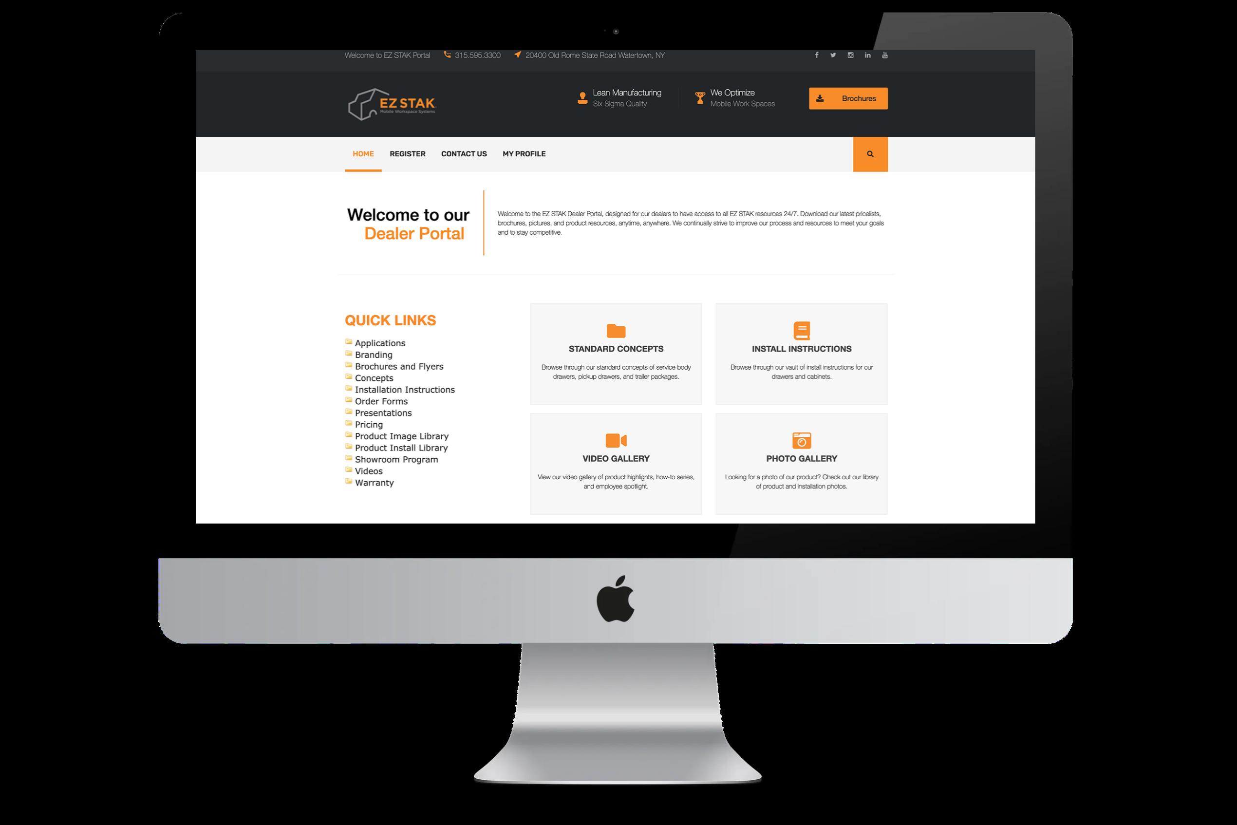 EZ STAK Dealer Portal