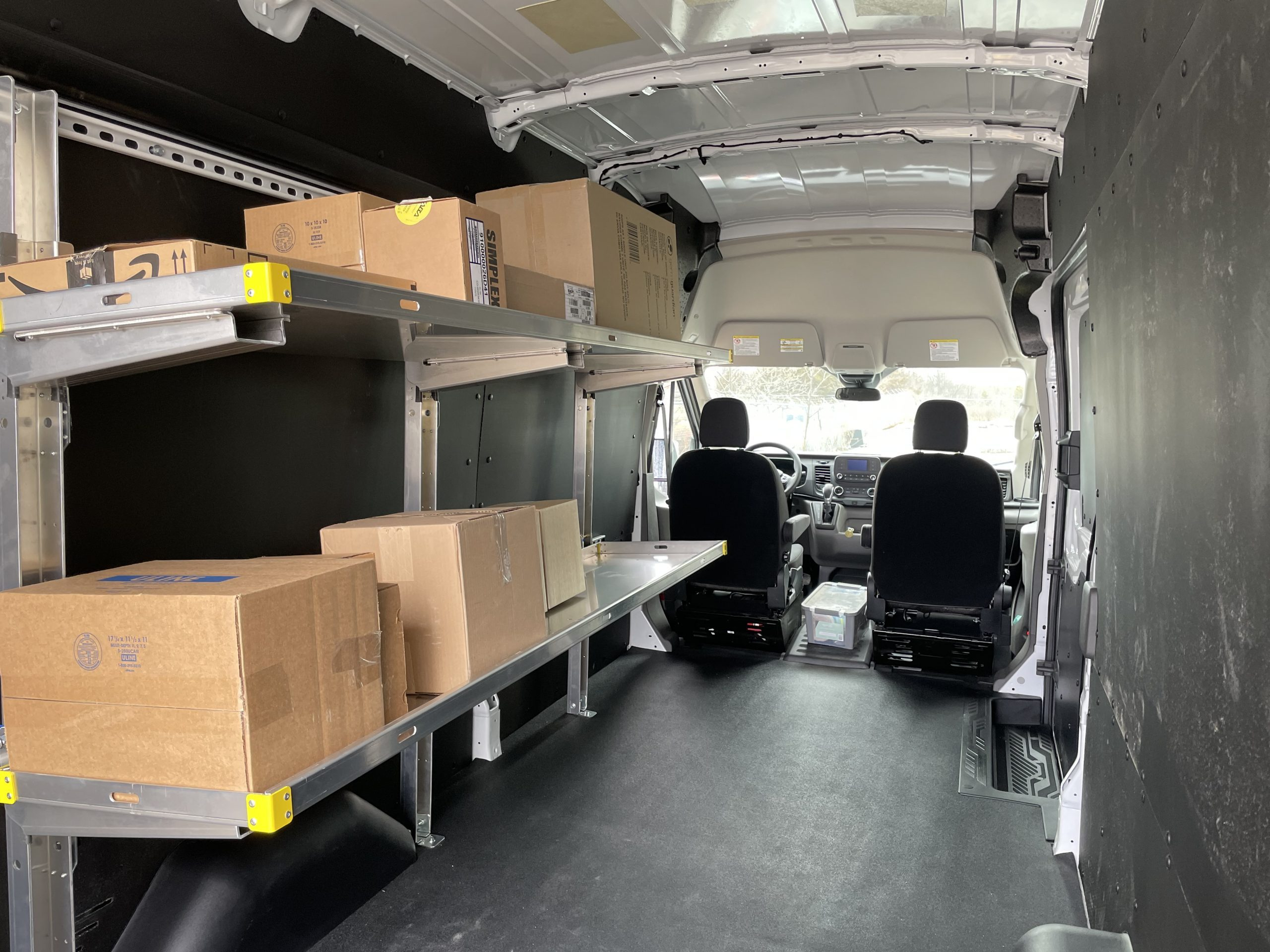 FOLDING SHELF for delivery vans